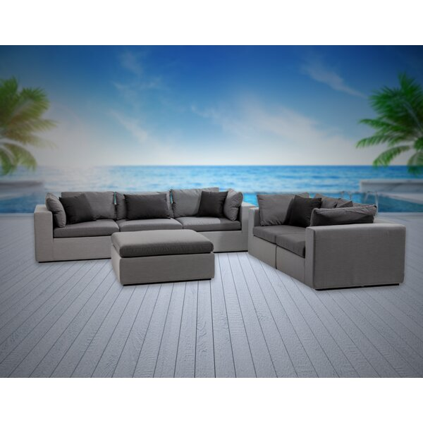 Malani 6 Piece Sunbrella Sofa Seating Group with Sunbrella Cushions by Brayden Studio