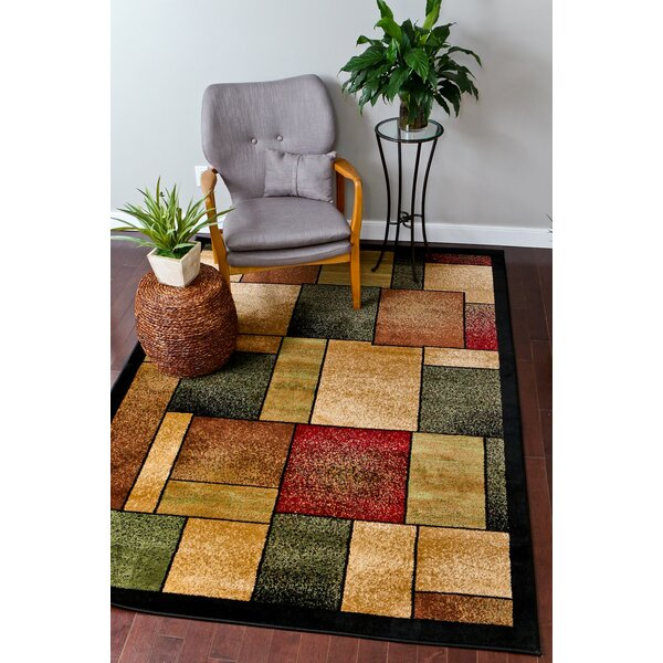Abstract Burgundy Area Rug by Persian-rugs