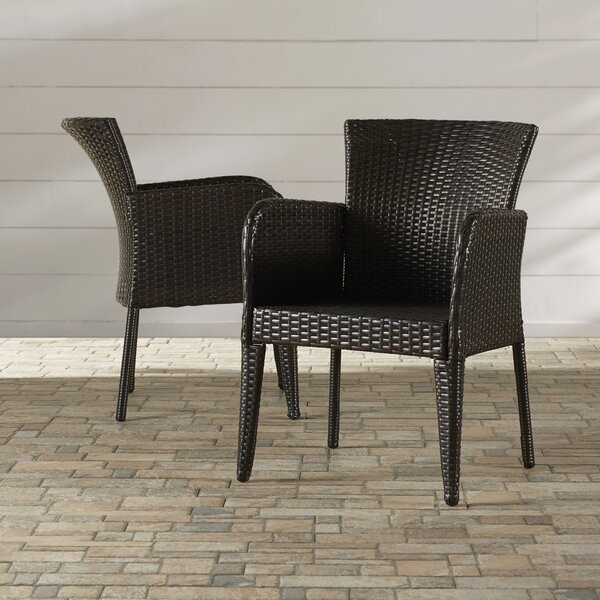 Woodard Patio Dining Chair (Set of 2) by Wrought Studio Wrought Studio