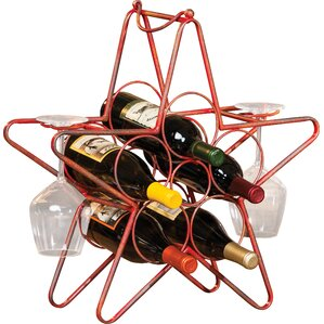 Rustic Star 5 Bottle Tabletop Wine Rack by Cape Craftsmen