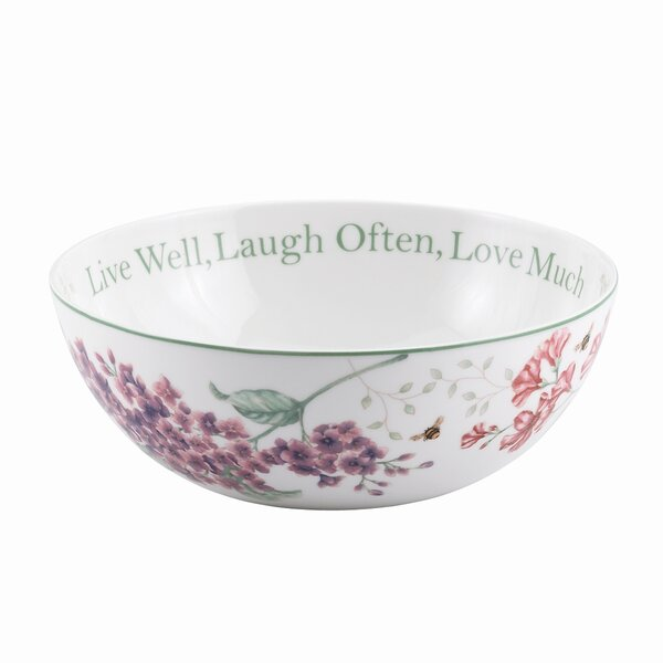 Butterfly Meadow Sentiment Serving Bowl by Lenox