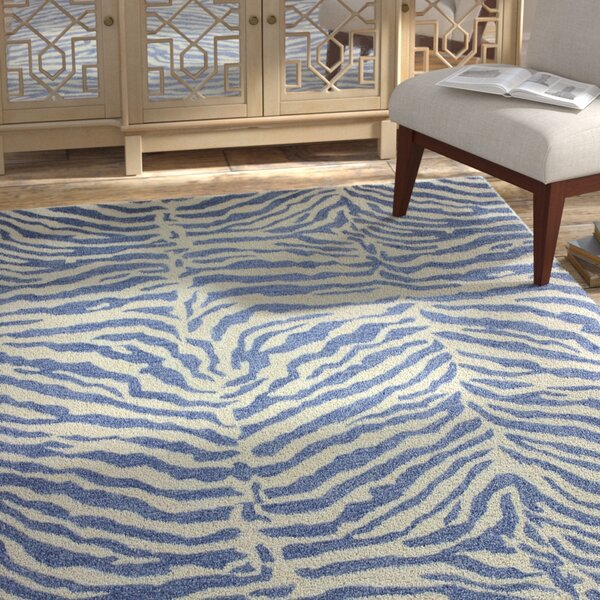 Abhay Hand-Tufted Blue Area Rug by Bloomsbury Market