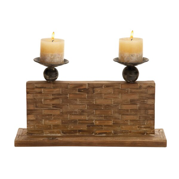 Wood Candelabra by Woodland Imports