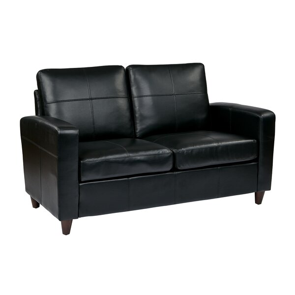 Caswell Wilmot Leather Loveseat by Latitude Run