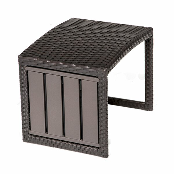 Medley Wicker Side Table by Rosecliff Heights