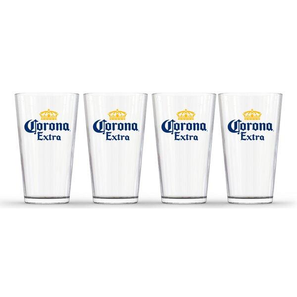 Corona Extra 16 oz. Glass Pint Glass (Set of 4) by PB