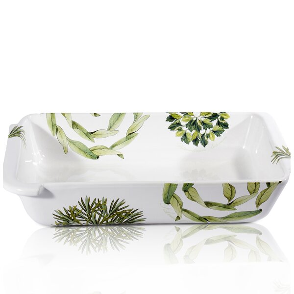 Vivere Erbe Rectangular Baking Dish by Intrada Italy
