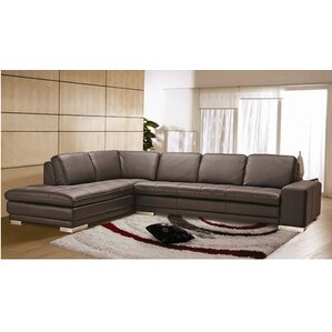 Bender Leather Sectional  sc 1 st  Wayfair : sectional leather sofa with chaise - Sectionals, Sofas & Couches