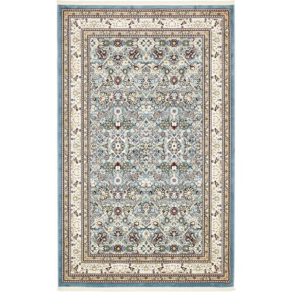 Courtright Blue/Ivory Area Rug by Charlton Home