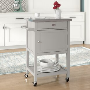 Eira Kitchen Cart with Stainless Steel Top
