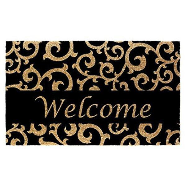 Welcome Scroll 30 x 18 Non-Slip Outdoor Door Mat
