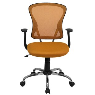 modern orange desk chairs allmodern