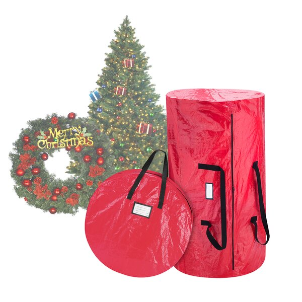 Deluxe Christmas Tree Storage Bag and Canvas Wreath Bag by Elf Stor