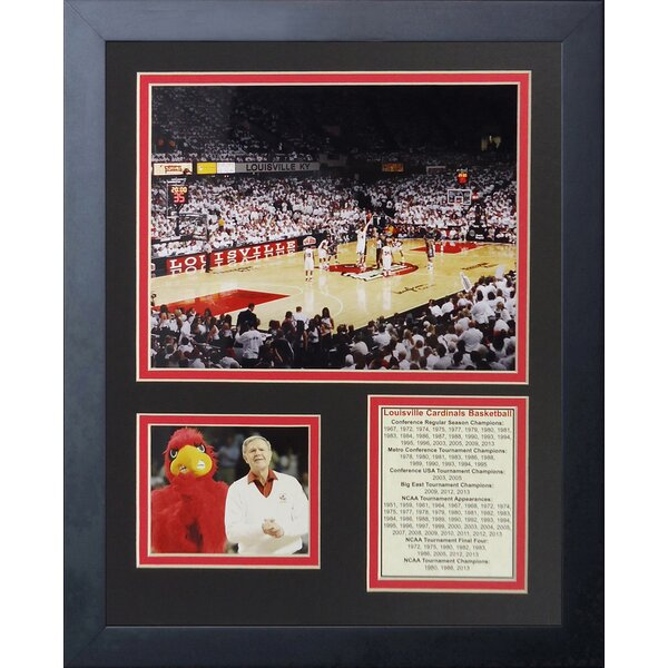 Louisville Cardinals - KFC Yum! Center Framed Memorabilia by Legends Never Die