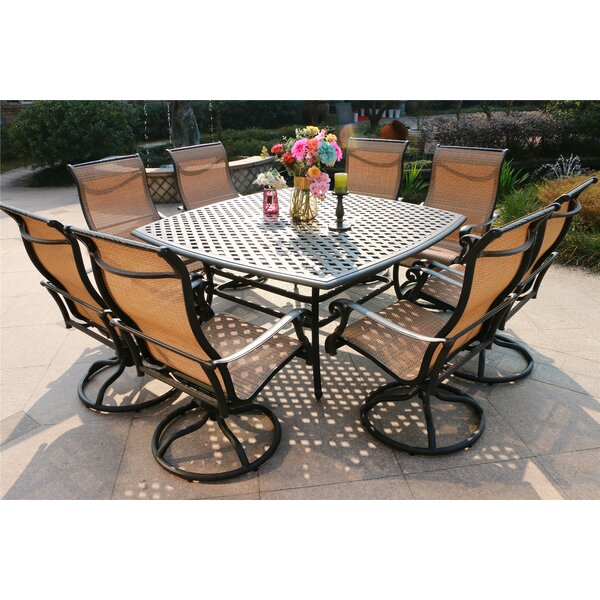 Bankston Aluminum 9 Piece Dining Set By Canora Grey