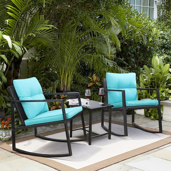 Patio 3 Piece Rattan Seating Group With Cushions By Ebern Designs