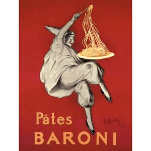 'Pates Baroni' Vintage Advertisement on Wrapped Canvas by Red Barrel Studio