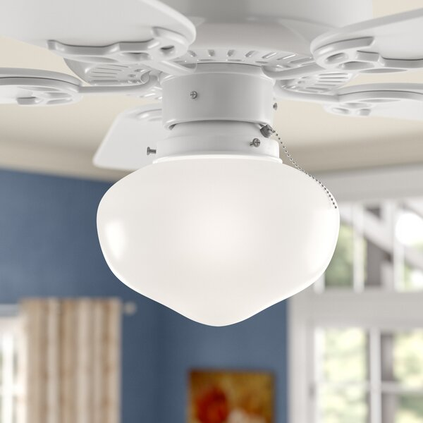 1-Light Schoolhouse Ceiling Fan Light Kit by Red Barrel Studio