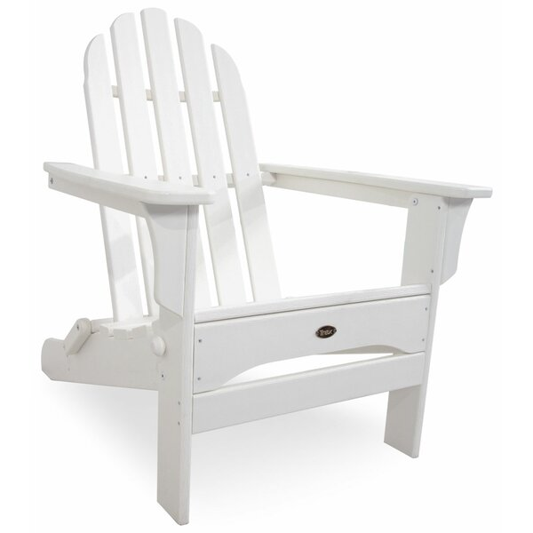 Trex Wood Folding Adirondack Chair with Ottoman by Trex Outdoor