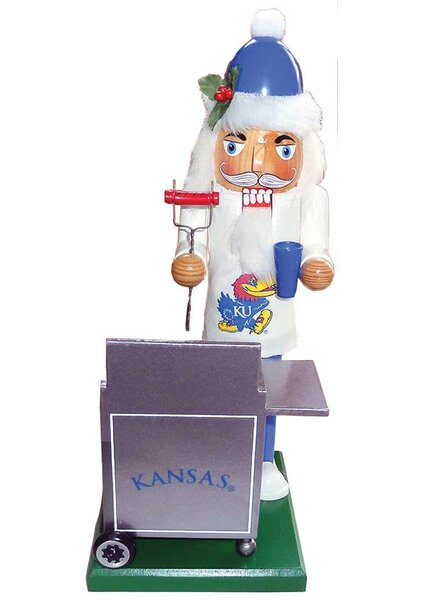 NACC Kansas Jayhawk Tailgating Nutcracker by Santa's Workshop