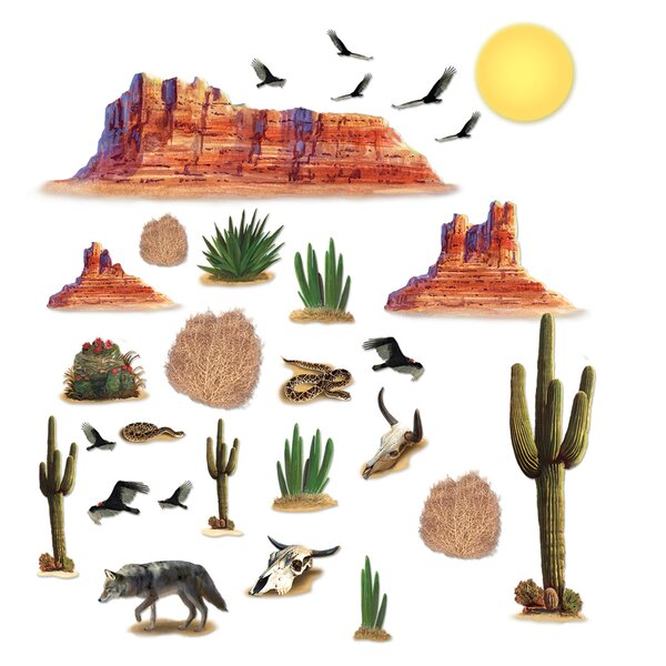 Wild Desert Wall Decal by East Urban Home