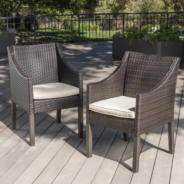 Portola Outdoor Wicker Patio Dining Chair (Set of 2) by Sol 72 Outdoor