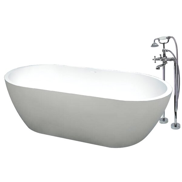 Sherwood 63 x 32 Freestanding Soaking Bathtub by Transolid