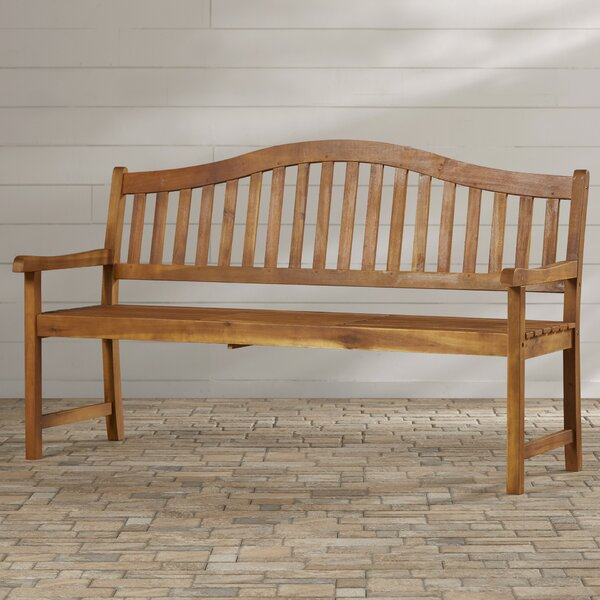Volusia Wooden Garden Bench By Beachcrest Home by Beachcrest Home Discount