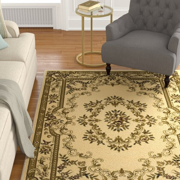Barwin Ivory Aubusson Rug by Astoria Grand