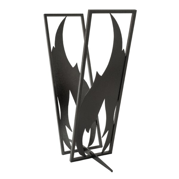 Flame Fire Pit Log Rack By Curonian