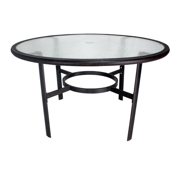 Stalnaker Glass Dining Table by Winston Porter