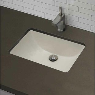 Best Ceramic Rectangular Undermount Bathroom Sink with Overflow By American Imaginations