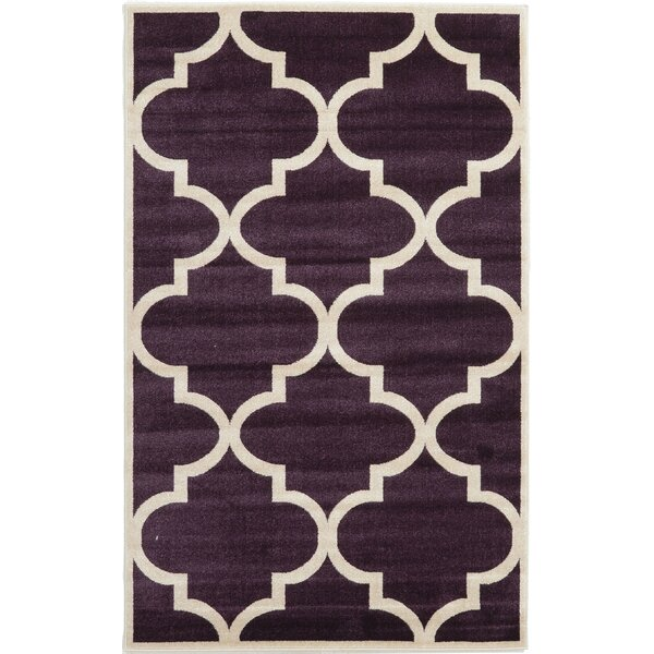 Moore Dark Purple Area Rug by Charlton Home