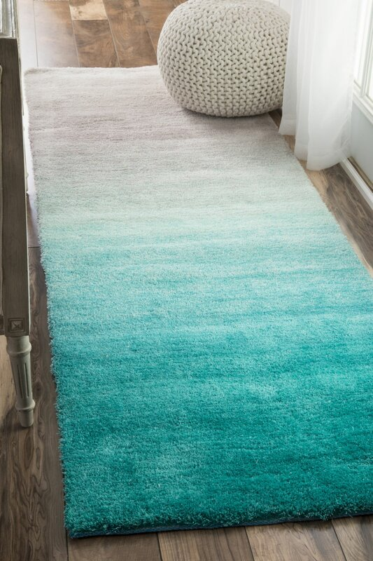 Bierman Hand Tufted Turquoise Gray Area Rug Amp Reviews