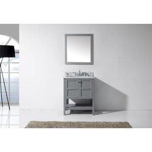 Knupp 30 Single Bathroom Vanity Set with Mirror