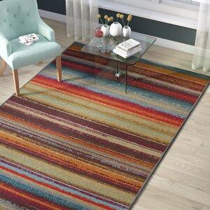 Rena Hand-Tufted Brown/Orange Indoor/Outdoor Area Rug