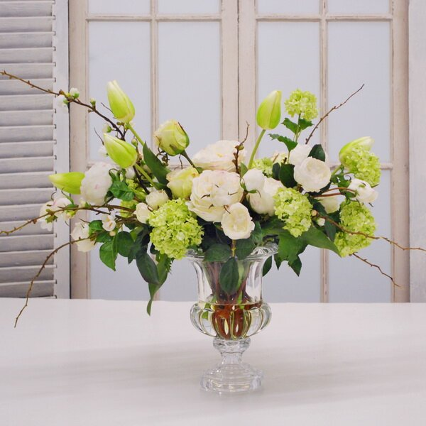 Mixed Floral Arrangement in Vase by Canora Grey
