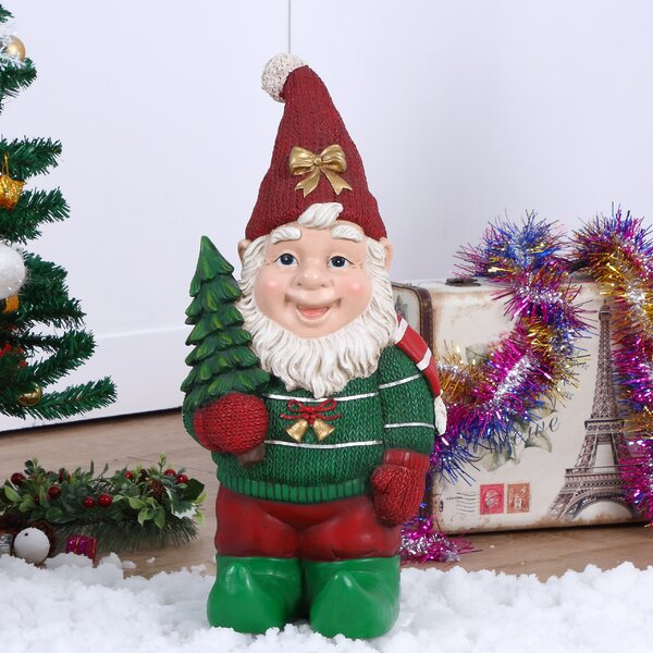 Elf Carrying Christmas Tree Oversized Figurine by The Holiday Aisle