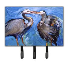 Heron Love Leash Holder and Key Hook by Caroline's Treasures