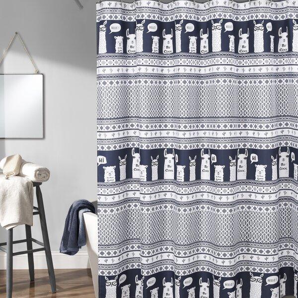 Minneota Llama Shower Curtain by Latitude Run