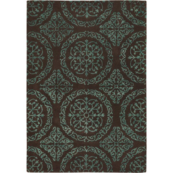 Shaldon Brown/Blue Area Rug by House of Hampton