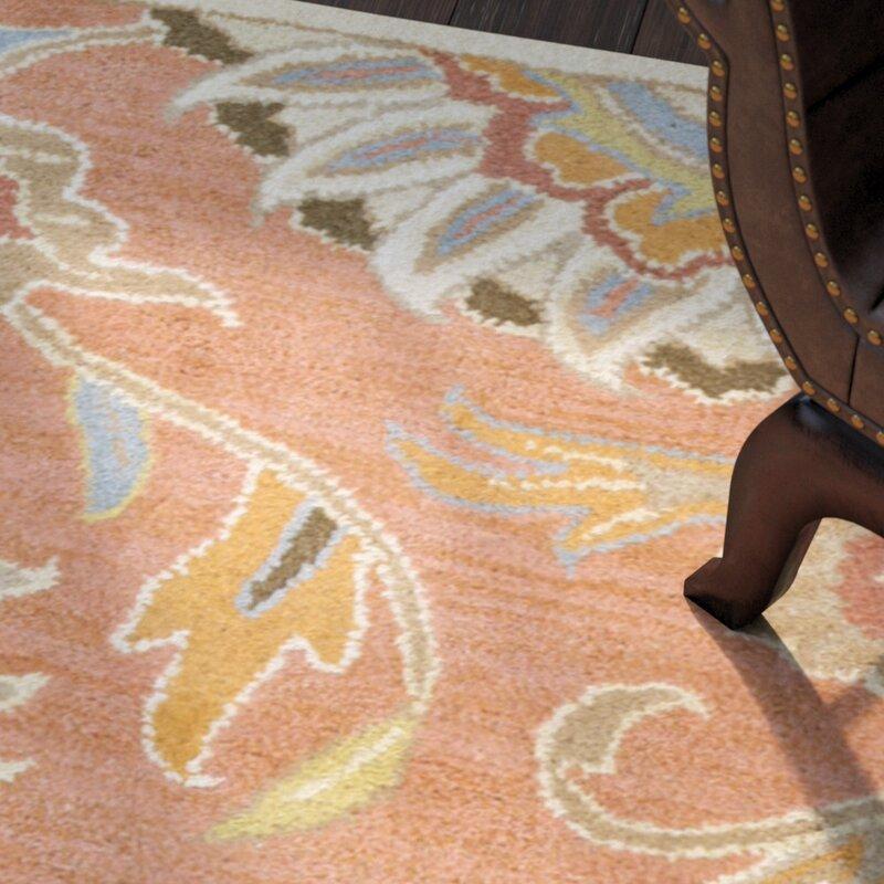 Phoebe Burnt Orange Hand Woven Wool Area Rug Amp Reviews