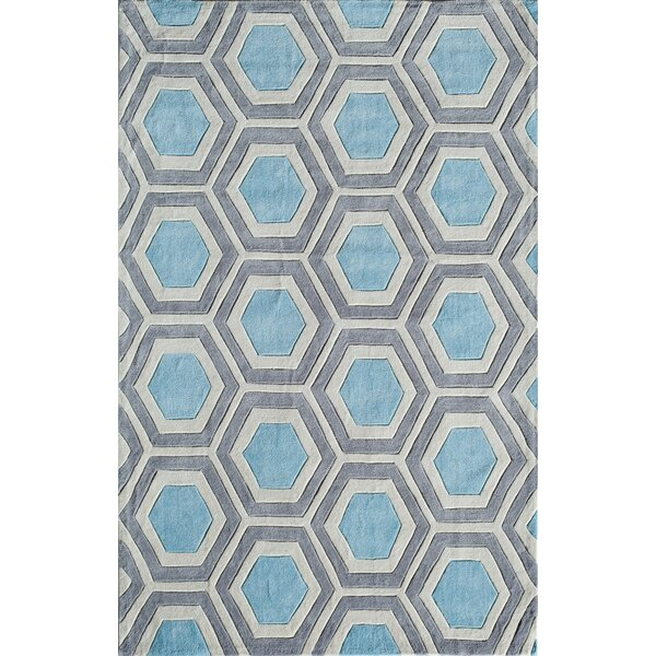 Hand-Tufted Blue Area Rug by The Conestoga Trading Co.