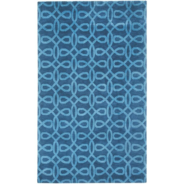 Cococozy Symphonic Hand Knotted Midnight Blue Area Rug by Capel Rugs