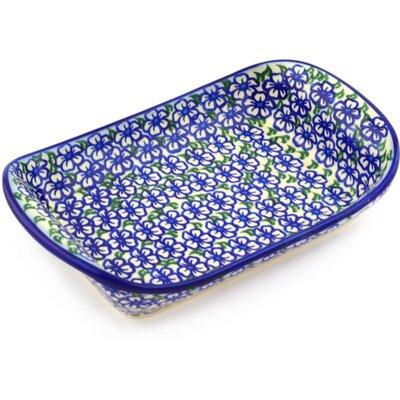 Polish Pottery 9 Rectangle Platter by Polmedia