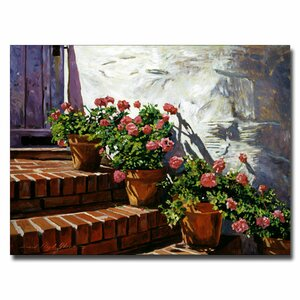 Geranium Steps by David Lloyd Glover Painting Prin