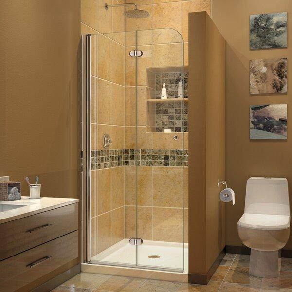 Aqua Fold 33.5 x 72 Hinged Semi Frameless Shower Door by DreamLine