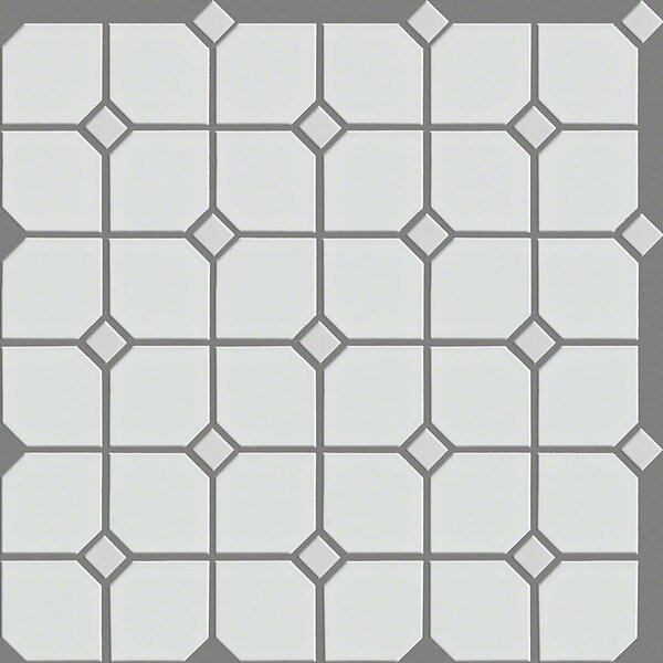 Sophisticated 4 x 4 Porcelain Mosaic Tile in White by Shaw Floors