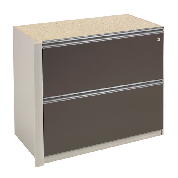 Karla 2-Drawer Oversized Pedestal File by Latitude Run