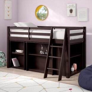 Find a Kwinana Twin Low Loft Bed with Desk and Bookcase ByMack & Milo